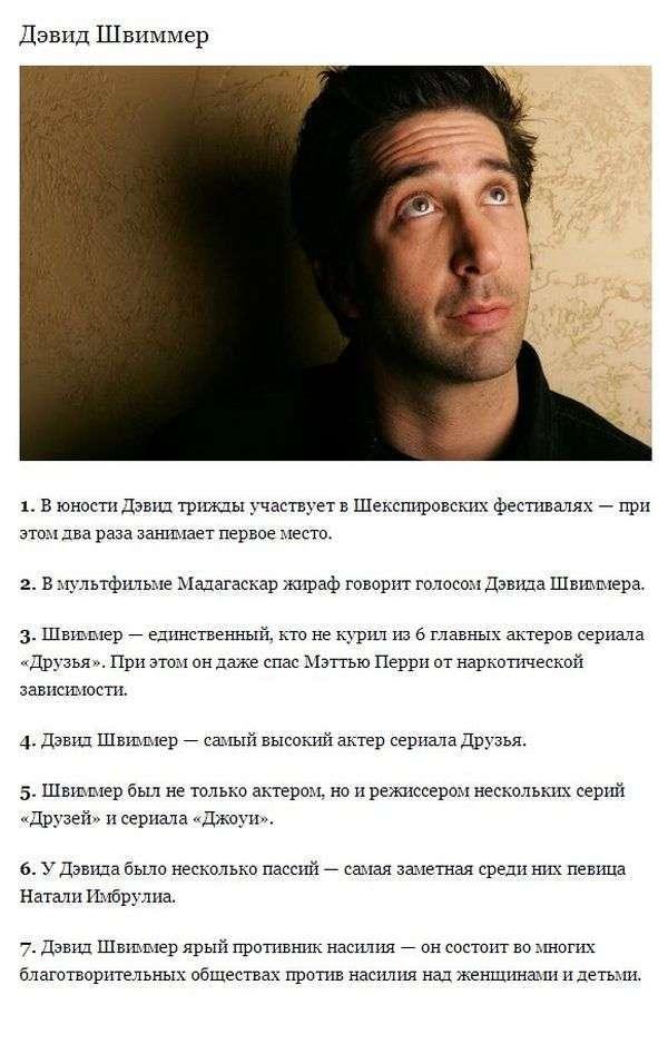 Захоплюючі факти про акторів з серіалу Друзі (8 фото + текст)
