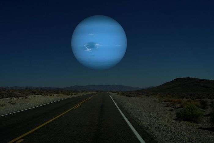 Якби на місці Місяця були інші планети Сонячної системи. Частина 2 (7 фото)