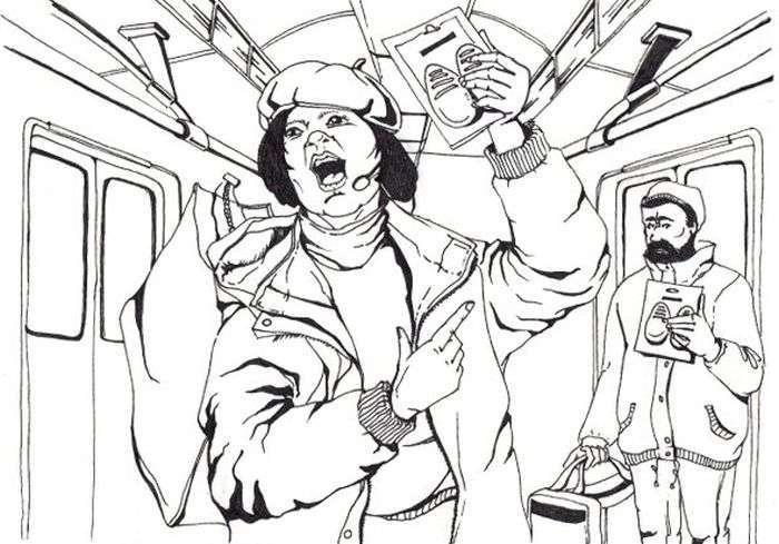 Як все влаштовано: Торгівля в поїздах метро (2 фото + текст)