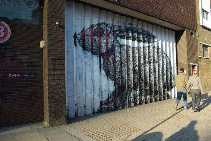 Незвичайний стріт-арт, створює класну ілюзію (8 фото)