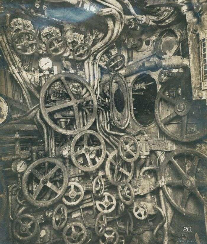 Пристрій німецької субмарини 1918 року (4 фото)