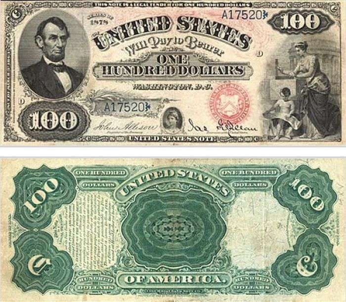 З роками змінювалася купюра в 100 доларів (15 фото)