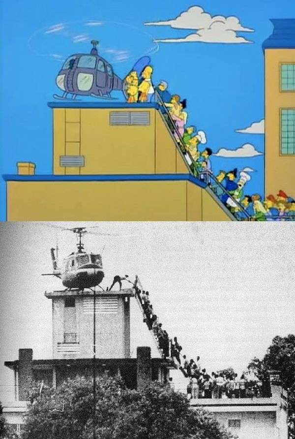 Прототипи кадрів з Сімпсонів (12 фото)