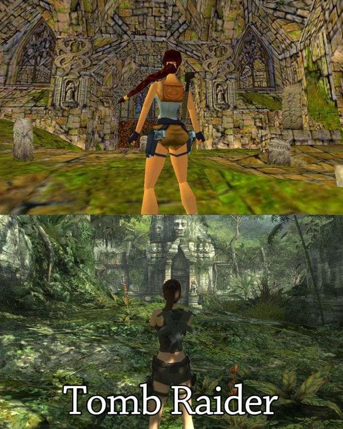 Компютерні ігри в минулому і в наші дні (20 картинок)
